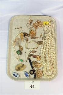 Collection of Signed Gold Toned Costume Jewelry