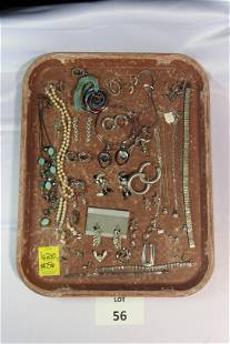 Lot of Silver Toned Costume Jewelry