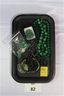 Collection of Jade Jewelry Items