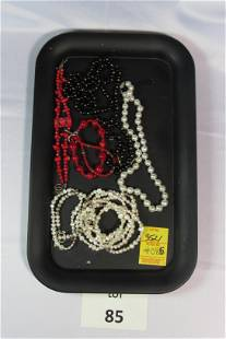 Lot of Faux Pearl and Beaded Costume Jewelry