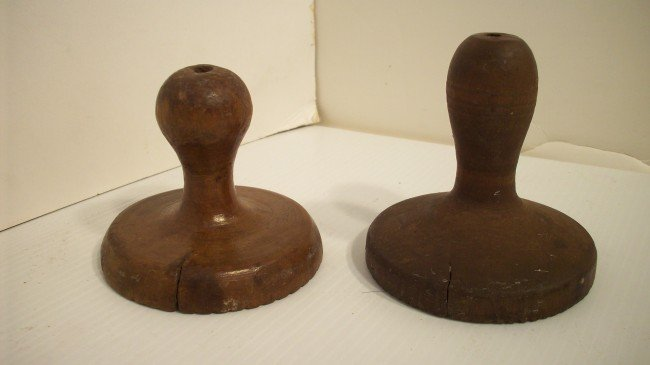 12: TWO ANTIQUE BUTTER MOLD STAMPS