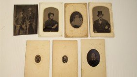 LOT OF SEVEN TINTYPES