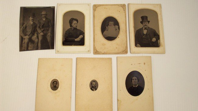 19: LOT OF SEVEN TINTYPES