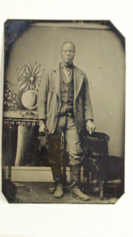 20: TINTYPE OF BLACK MAN