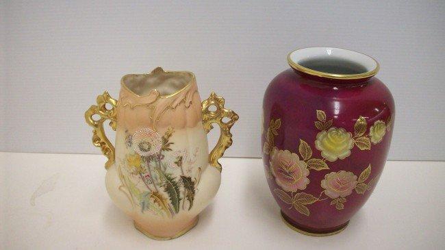 1: Ginger Jar and Handled Vase