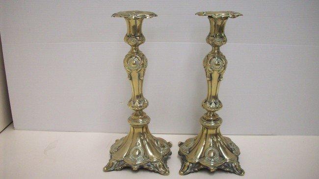 2: Victorian Silverplate Candlesticks