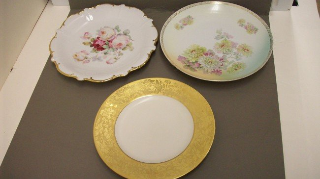 3: Tray Lot of 3 German Serving Plate/Platter