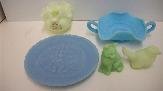 7: Satin Glass Lot of Five