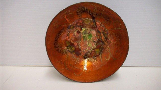 12: Enamel on Copper  Deep Bowl