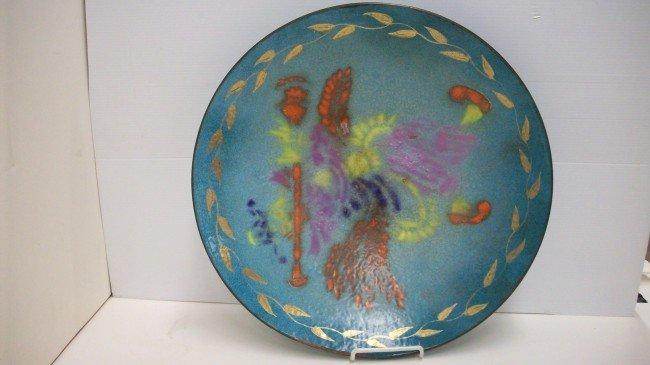 14: Large Enamel on Copper Bowl