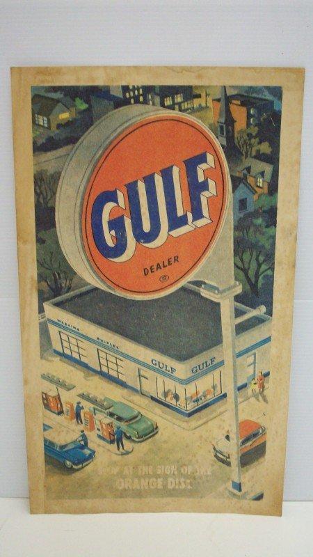19: Vintage Gulf Dealer Poster