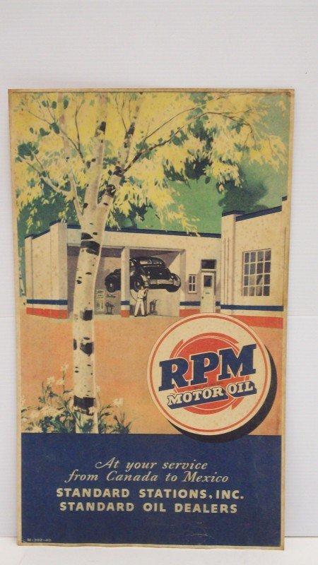 20: Vintage RPM Motor Oil Standard Oil Co. Poster