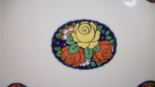 229: Hand painted Erphila Germany Open Handled Plate - 3