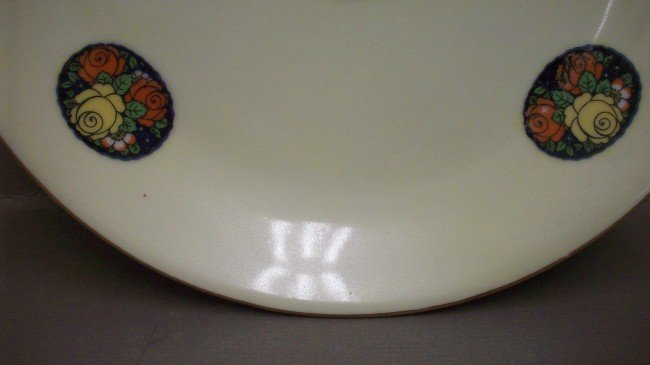 229: Hand painted Erphila Germany Open Handled Plate - 5