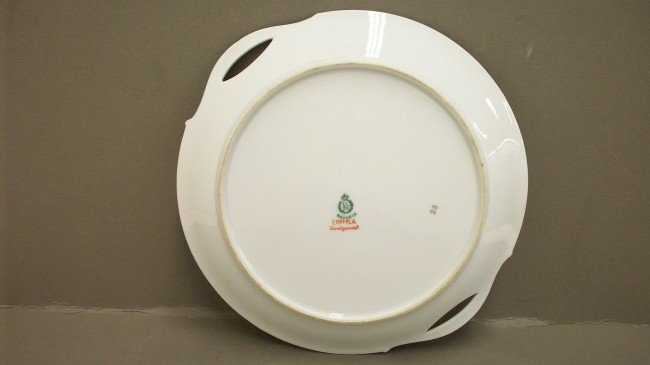 229: Hand painted Erphila Germany Open Handled Plate - 7