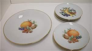 67: Fruit Pattern Desert Plate Set
