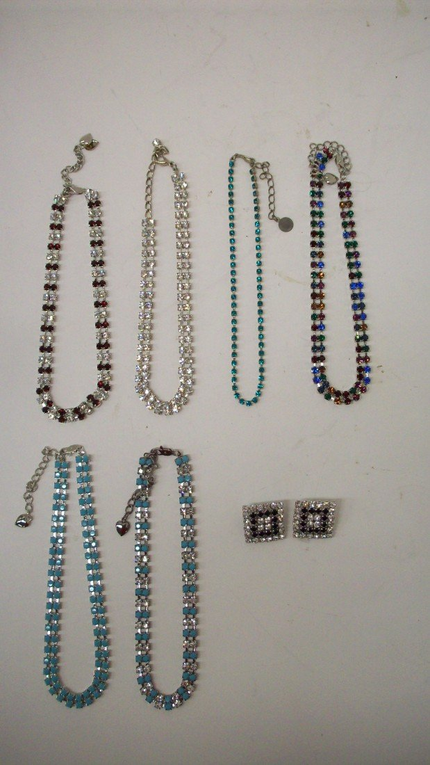 2: Tray Lot of Rhinestone Jewelery