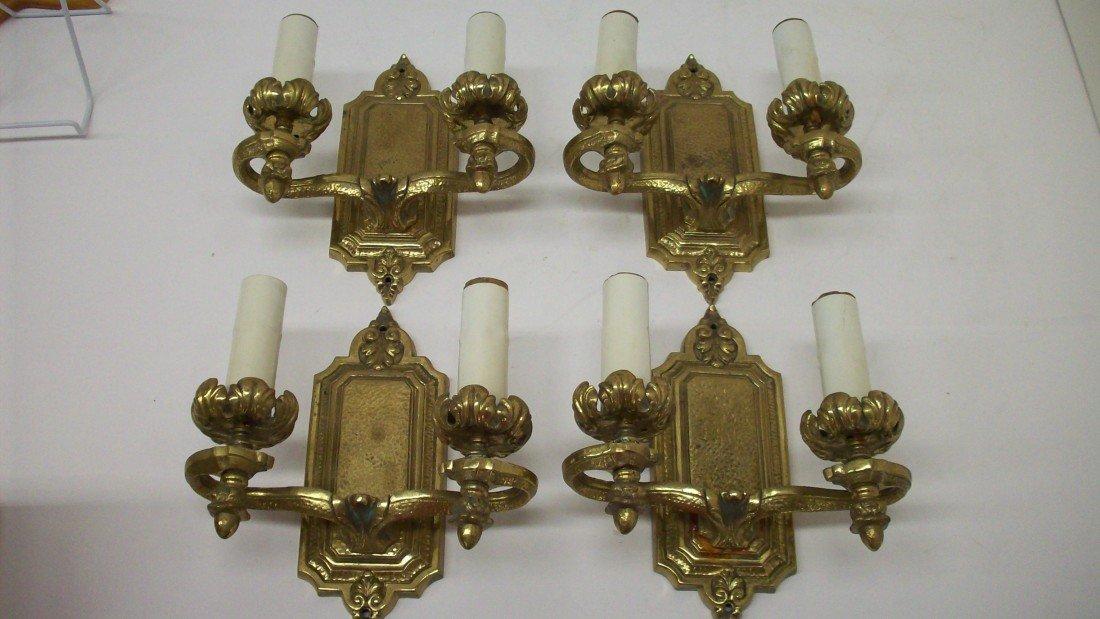 4: Set of Four Cast Wall Sconces