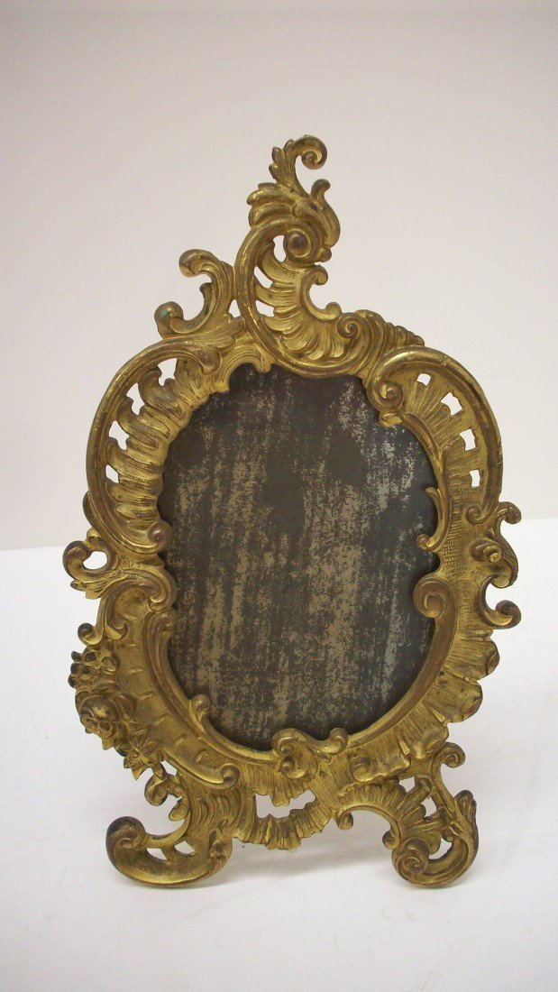 11: Victorian Metal Picture Mirror Frame