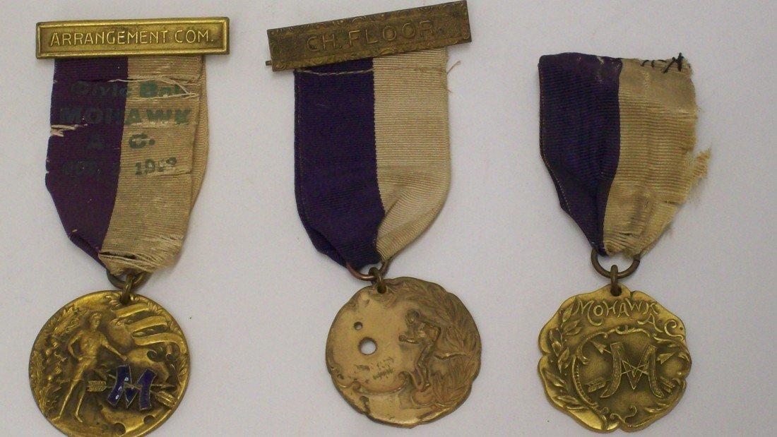 13: Lot 2 Three Sports Medals Ribbons