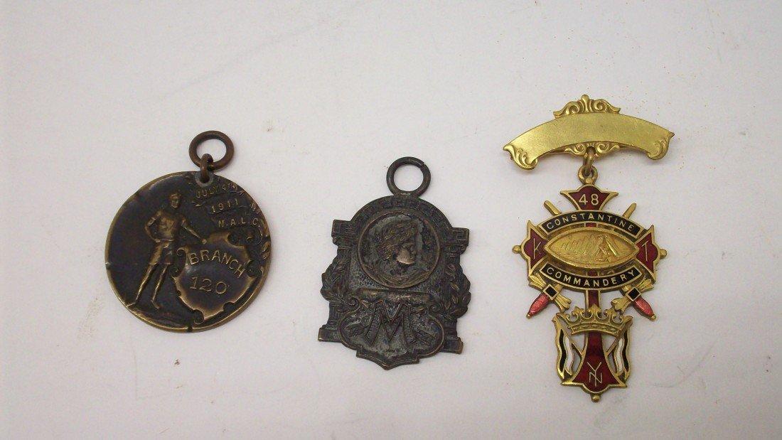 14: Lot 3 Three Sports Medals Ribbons