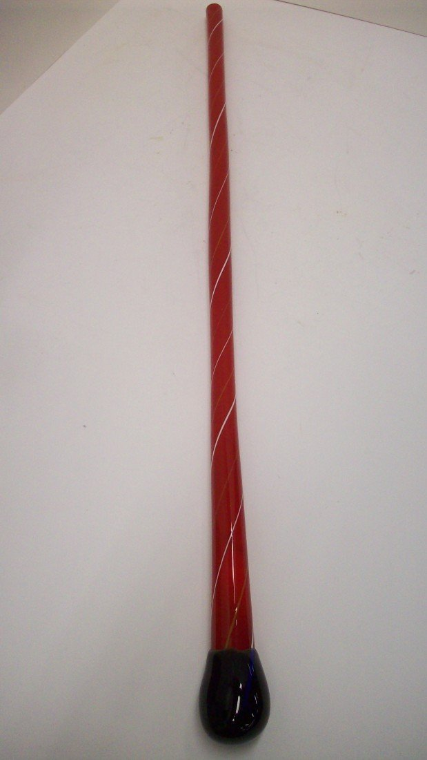 18: Red Glass Cane