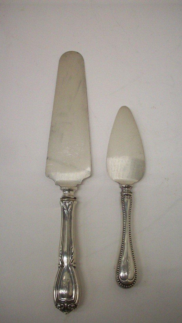 21: Sterling Handled Severing Knives