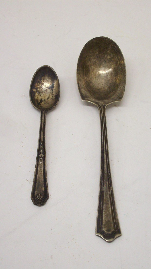 23: Two Sterling Spoons