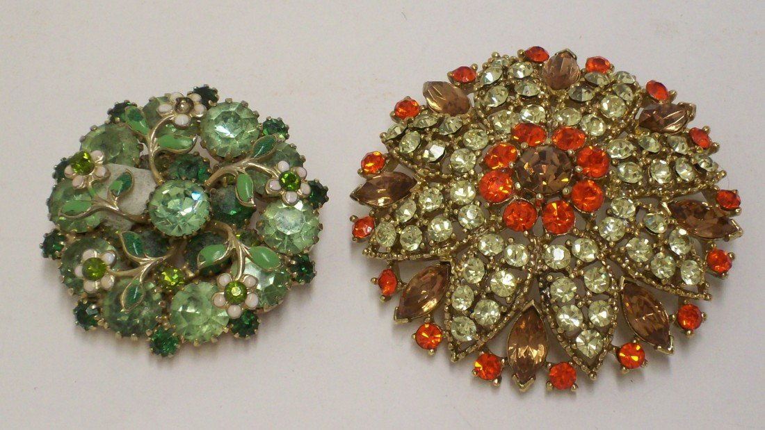 5: 2 Costume Brooches