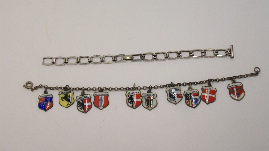 11: German Charm Bracelet and Gold Watch Bracelet