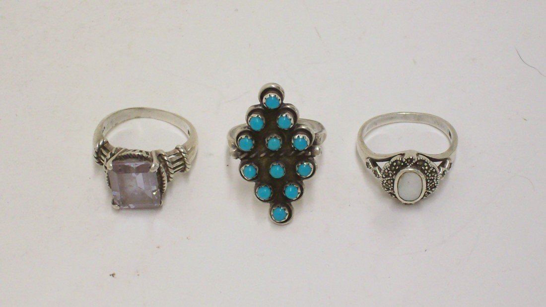 21: Lot of 3 Sterling Rings