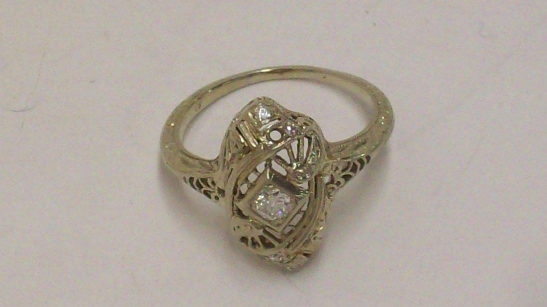 22: White Gold Diamond Ring
