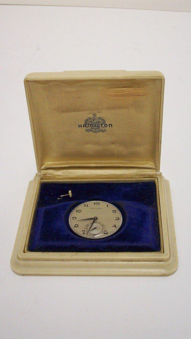 211: Hamilton Pocket Watch mechanism only