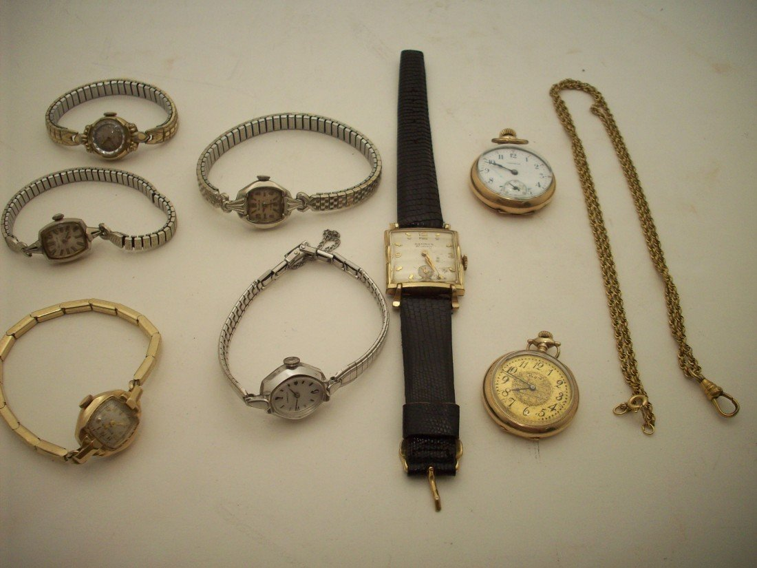 10: Tray Lot Of Watches