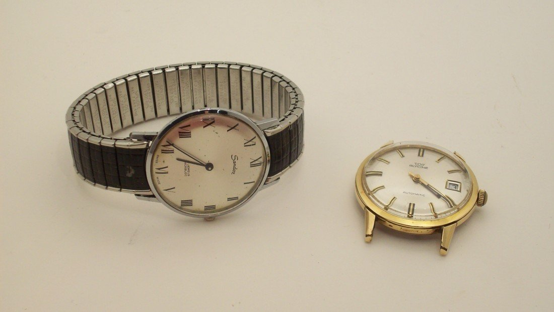 16: Swiss Sandoz and Glycine Wrist  Watches