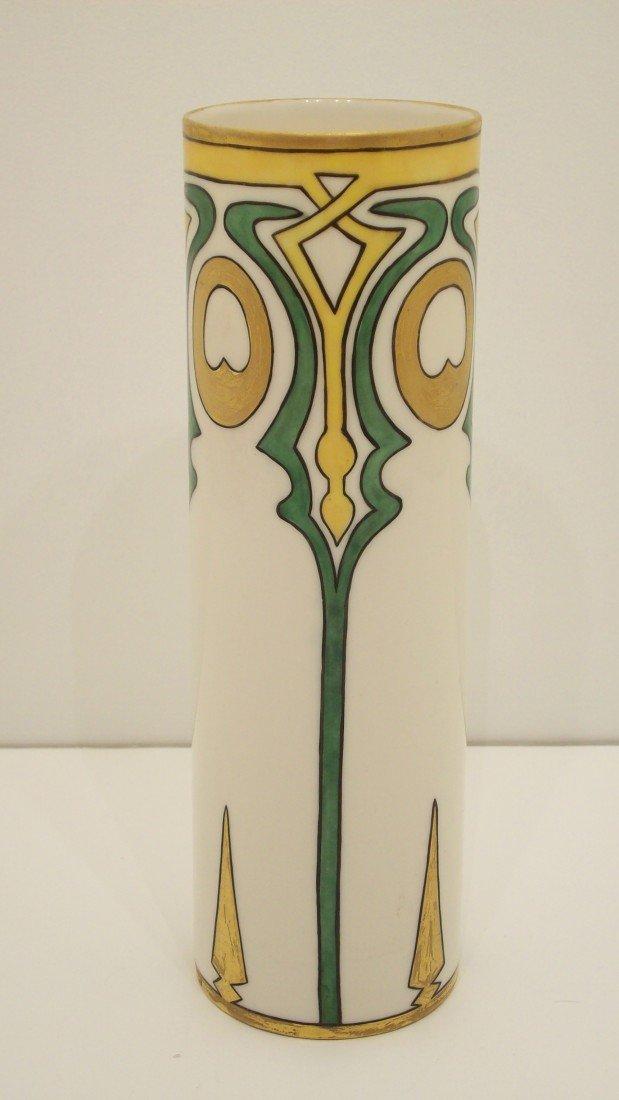 19: Hand Painted Belleek Vase