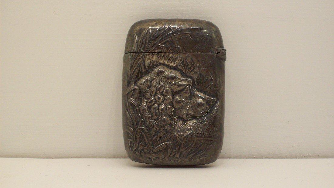 76: Antique Victorian Sterling Silver Match Safe