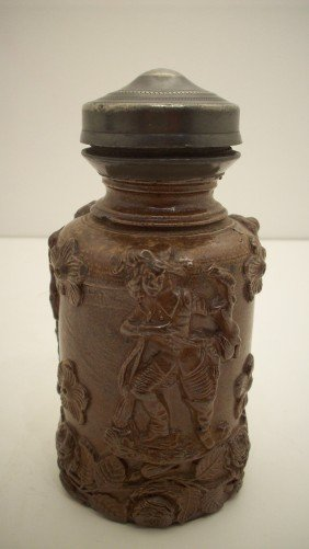 British Stoneware Hunting Jug