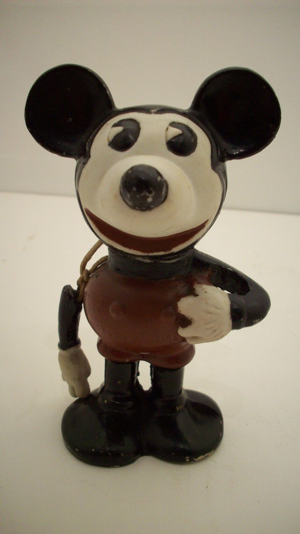 78: 1930's Pie Eyed Mickey Mouse Bisque Figure
