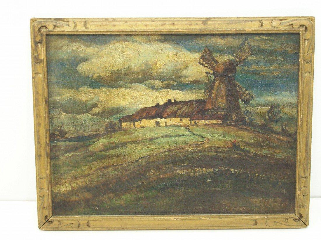 "83: Nathaniel Ross Parke Oil on Panel ""Old Farmhouse..."