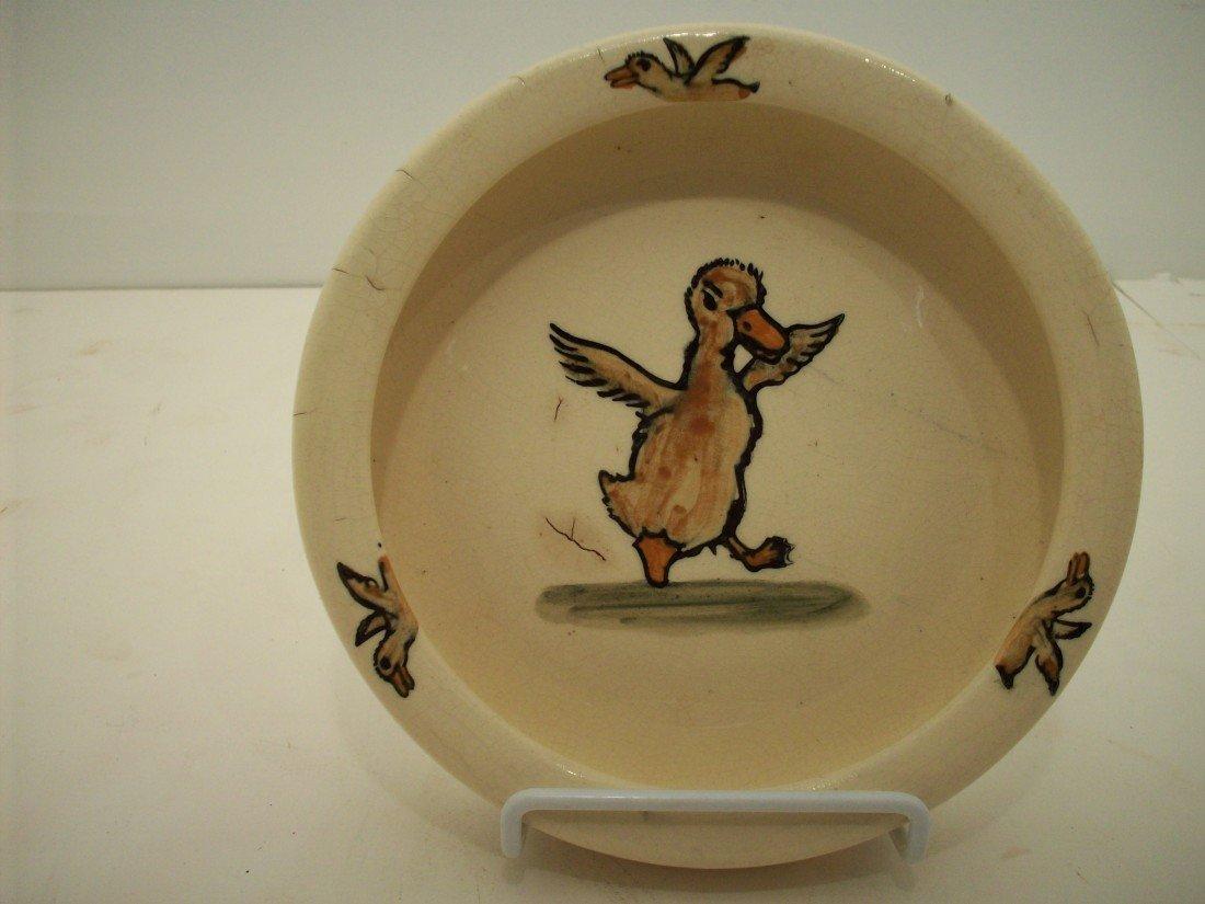 "88: Weller Pottery Zona ""Strutting Duck"" Baby Feeding B"