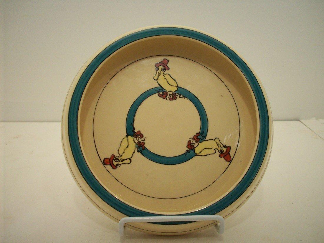 "89: Roseville Pottery ""Puddle Duck"" Juvenile Bowl"