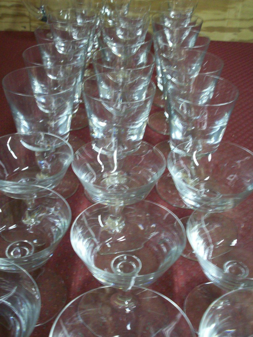 90: 30 Pcs. Baccarat Crystal Stemware Avignon Pattern