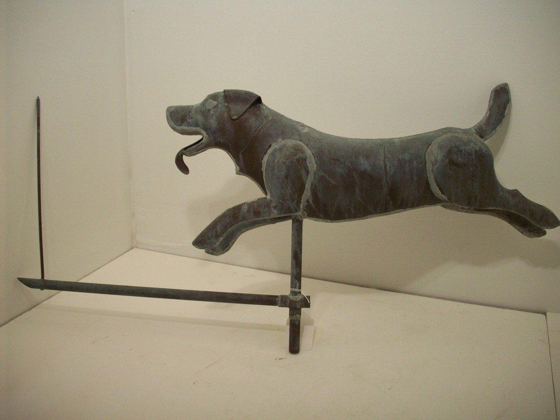 91: Vintage Dog Weathervane