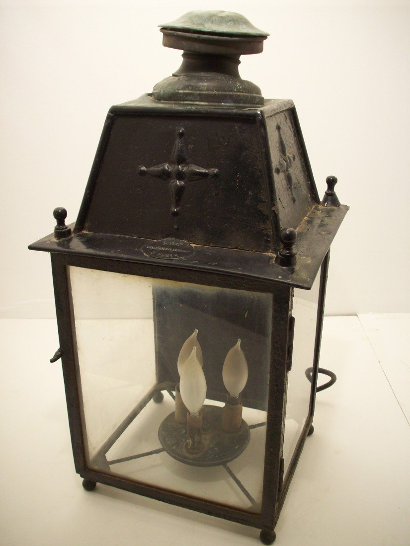 92: French Victorian Iron Hanging Lantern