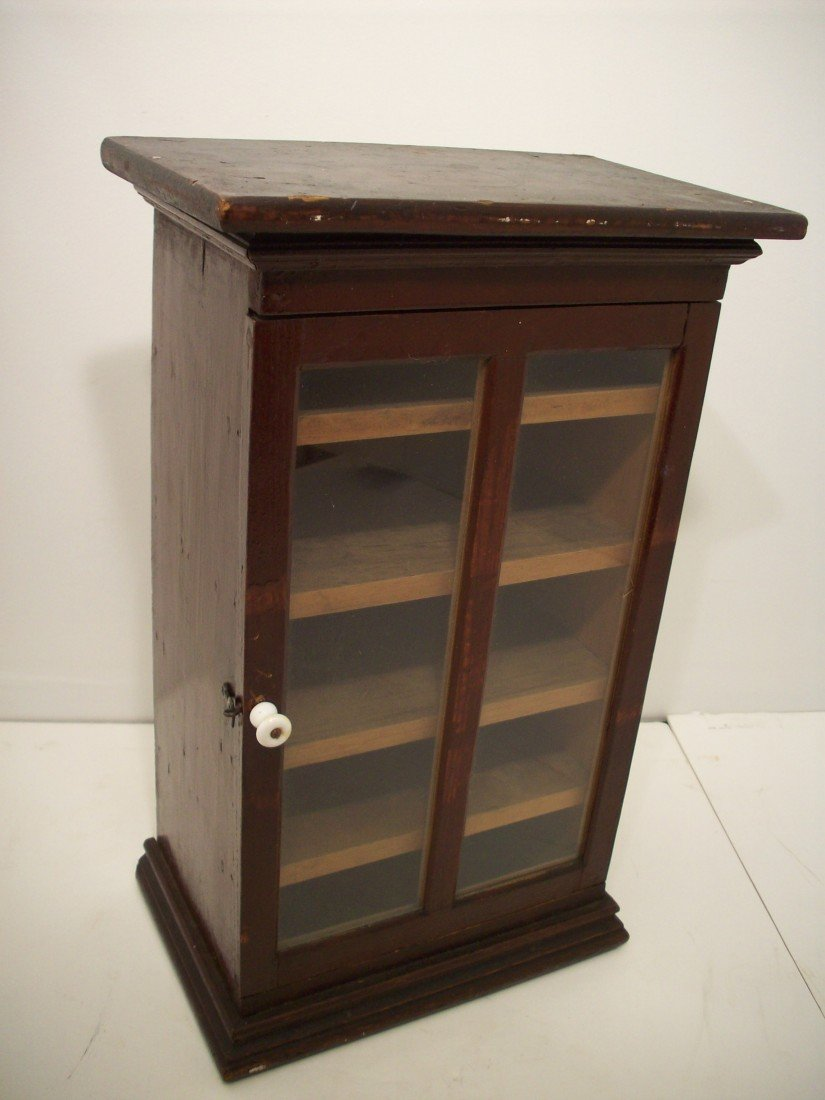 96: Salesman's Sample Victorian Glass Front Bookcase