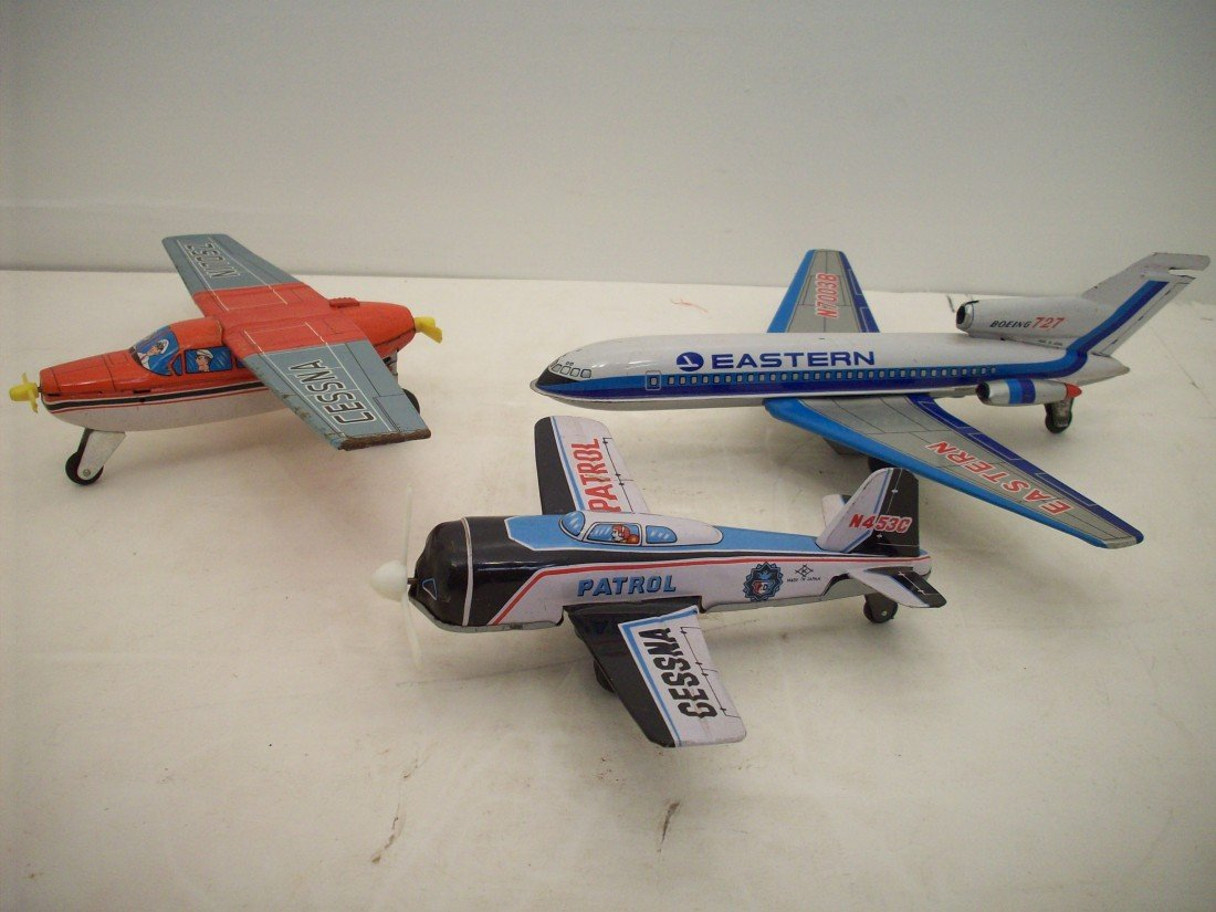 Lot of Tin Friction Toy Planes