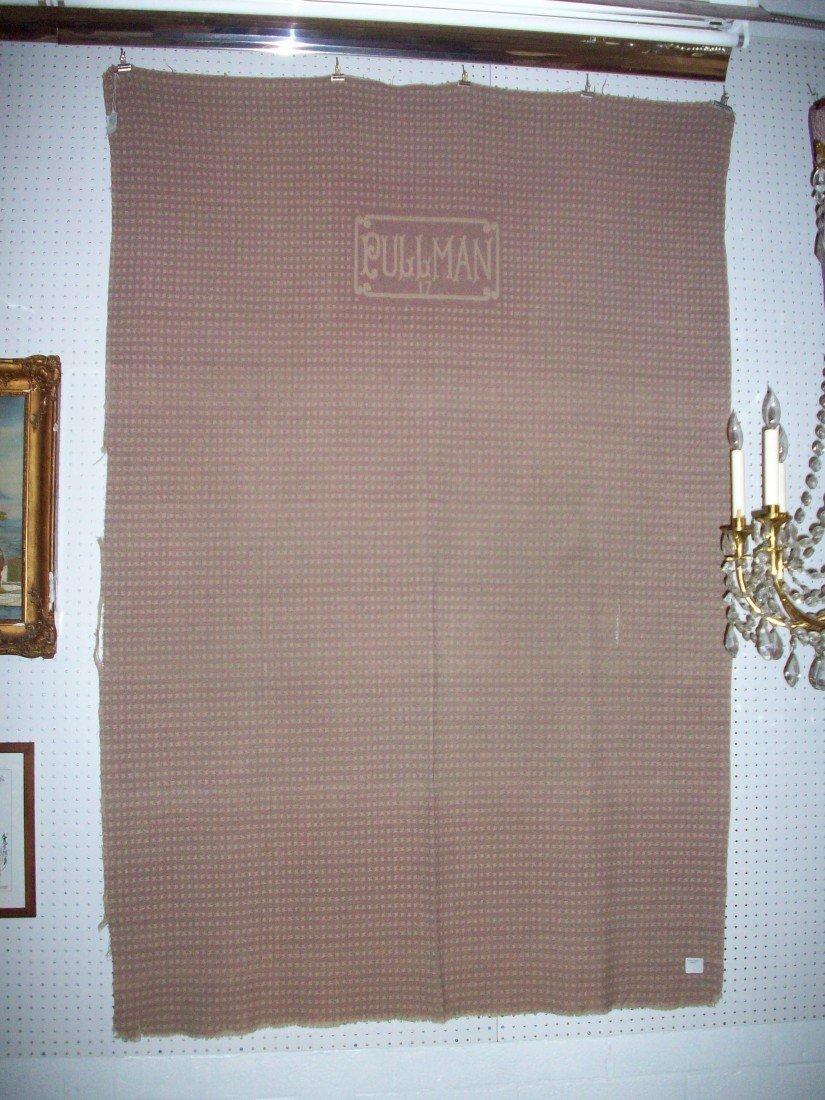 Vintage Pullman Railroad Sleeping Car Wool Blanket