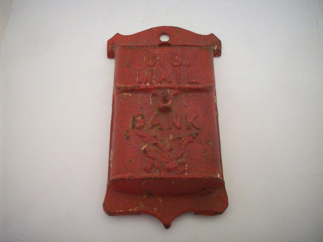 U.S. Mail Cast Iron Mailbox Bank