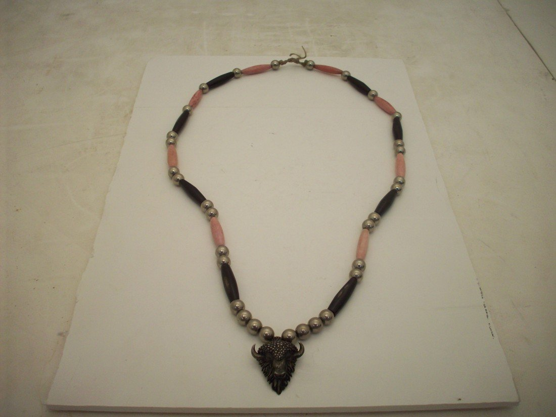 Southwest Necklace with Sterling Beads